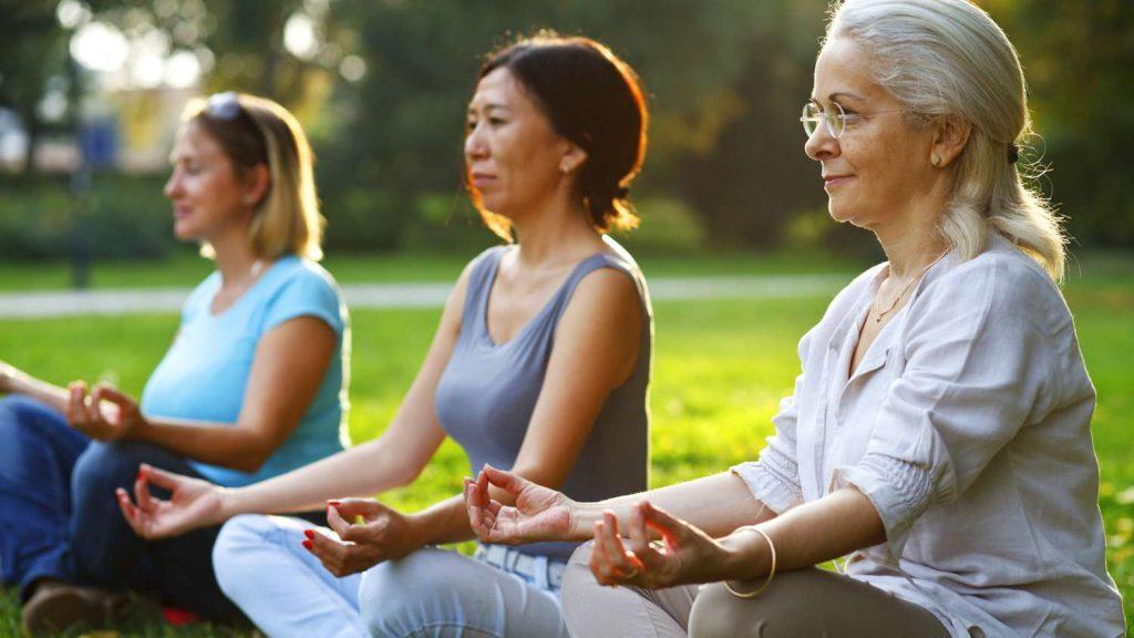 meditación en la vejez